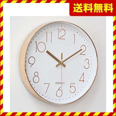 掛け時計 電波時計 おしゃれ 北欧 連続秒針 静音 壁掛け時計 自動受信 シンプル リッピング 掛時計 自宅 寝室 部屋飾り 贈り物 インテリア 大数