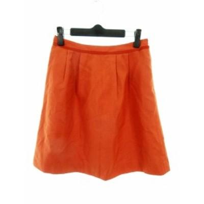 【中古】ビス ViS スカート フレア ミニ 無地 S オレンジ /MO レディース