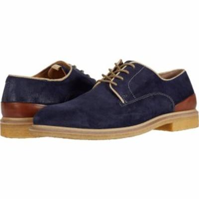 ジョンストンアンドマーフィー JandM Collection メンズ 革靴・ビジネスシューズ シューズ・靴 Wagner Plain Toe Navy