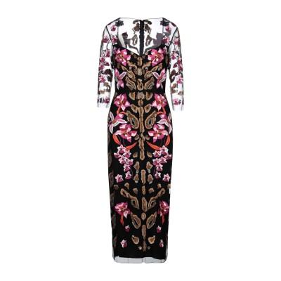 テンパリー・ロンドン TEMPERLEY LONDON ロングワンピース&ドレス ブラック 10 ナイロン 100% ロングワンピース&ドレス