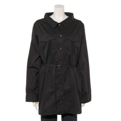 Tasha ruby[大きいサイズ] (ターシャルビー) レディース サファリシャツ ブラック 3L~4L