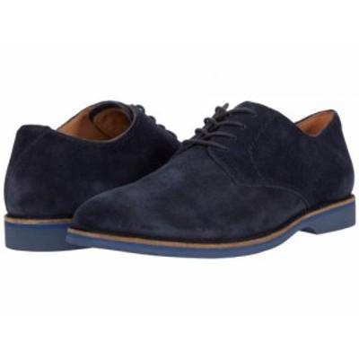 Clarks クラークス メンズ 男性用 シューズ 靴 オックスフォード 紳士靴 通勤靴 Atticus Lace Navy Suede【送料無料】