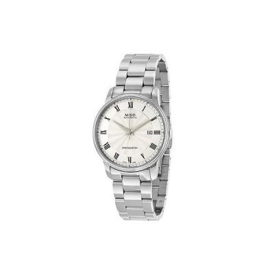 ミドー 腕時計 Mido Baroncelli オートマチック シルバー ダイヤル ステンレス スチール メンズ 腕時計 M0104081103300
