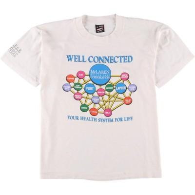 90年代 フルーツオブザルーム FRUIT OF THE LOOM プリントTシャツ USA製 メンズL ヴィンテージ /eaa154155