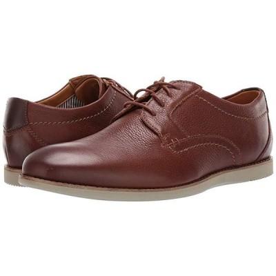 クラークス Raharto Plain メンズ オックスフォード Brown Tumbled Leather