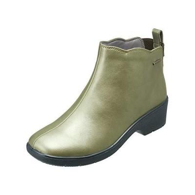 パンジー レインブーツ 婦人用 長靴 雨靴 レディース 防水設計 より雨に強く より歩きやすく4906 (23.5cm (3E), カーキ)