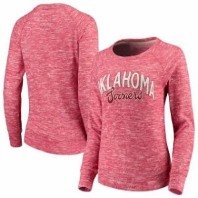 Camp David キャンプ デイビッド スポーツ用品  Oklahoma Sooners Womens Crimson Carefree French Terry Pullover Sweat