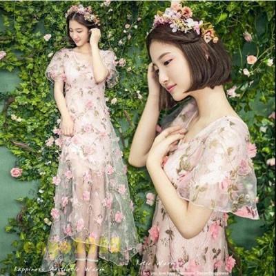 カラードレス ウェディングドレス 結婚式 花嫁 衣装 調節可編み上げ 撮影 結婚式 二次会 豪華披露宴 演出 演奏会