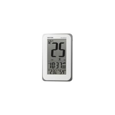 デジタル電波目覚まし時計 「フィットウェーブカレンダーD139」 8RZ139SR03 【フィットウェーブカレンダーD139】 白 8RZ139SR03 [デジタル /電波自動受信…