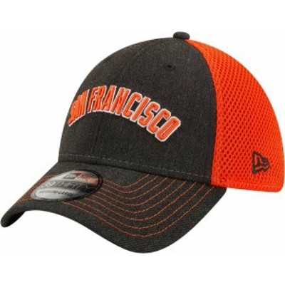 ニューエラ メンズ 帽子 アクセサリー New Era Men's San Francisco Giants Black 39Thirty Heathered Stretch Fit Hat