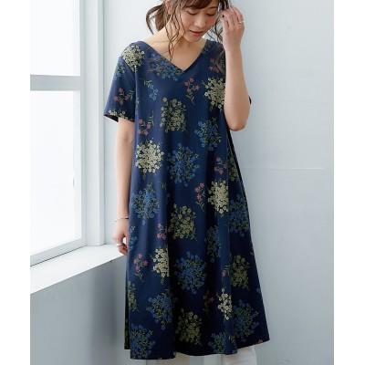 選べる柄【北欧風】プリントワンピース (ワンピース)Dress