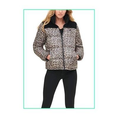Levi's Women's Zoe Bubble Puffer Jacket, Black Velvet/Leopard, X-Small並行輸入品