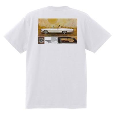 アドバタイジング ポンティアック 393 白 Tシャツ 黒地へ変更可能 1965 テンペスト ボンネビル カタリナ パリジェンヌ アメ車