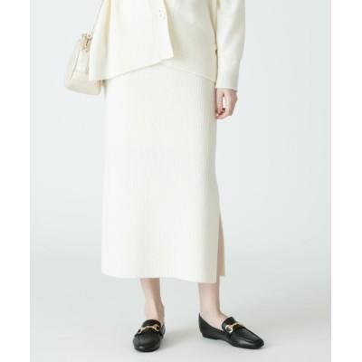 (allureville/アルアバイル)AIRWOOLリブタイトスカート/レディース オフホワイト