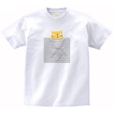 ポケットに入ったネコ 動物・生き物 Tシャツ