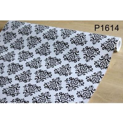 【10M】p1614 フラワー 花柄 ダマスク柄 壁紙 シール リフォーム 多用途 ウォールステッカー はがせる リメイクシート
