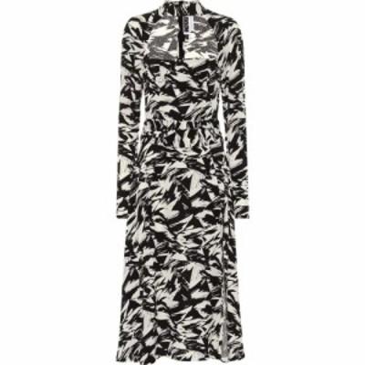 ローテート ROTATE BIRGER CHRISTENSEN レディース ワンピース ミドル丈 ワンピース・ドレス Ellen Printed Crepe Midi Dress Grphic Aop