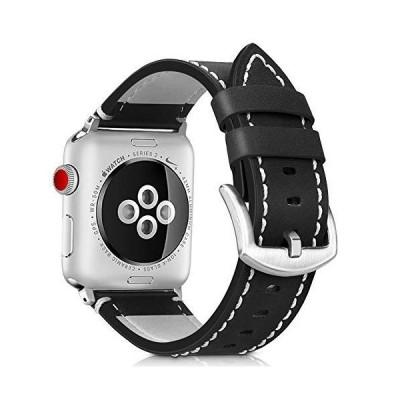 Runostrich コンパチブル apple watch バンド 38mm 40mm本革 ビジネススタイル コンパチブル アップルウォッチバンド コ
