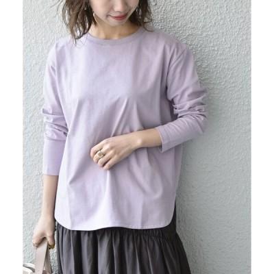 tシャツ Tシャツ SHIPS any: ラウンドヘム ロングスリーブ TEE2〈吸水速乾〉◆