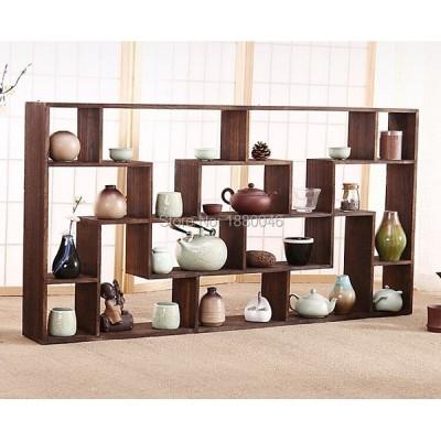 茶具収納棚 壁掛け式 ソリッド・ウッド 置物 桐の木
