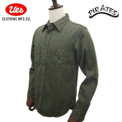UES ウエス オリジナル コットン ムラサテン ワークシャツ 501956