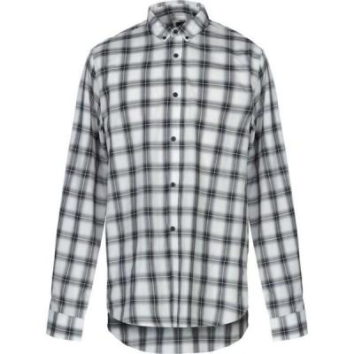 アルマーニ ARMANI EXCHANGE メンズ シャツ トップス Checked Shirt White