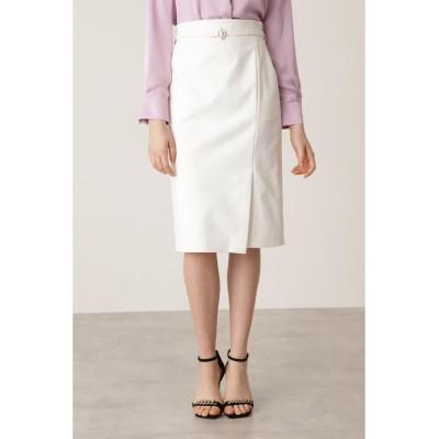 (Pinky&Dianne/ピンキー アンド ダイアン)Tバーベルト付きタイトスカート/レディース エクリュ1