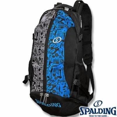 SPALDINGケイジャー グラフィティブルー バスケットボールバッグ バスケ収納カバン スポルディング40-007GB