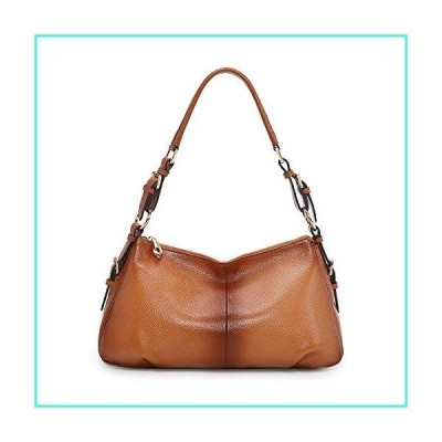 【新品】Kattee Soft Leather Hobo handbags for Women, Genuine Top Handle Vintage Shoulder purses(Sorrel)(並行輸入品)