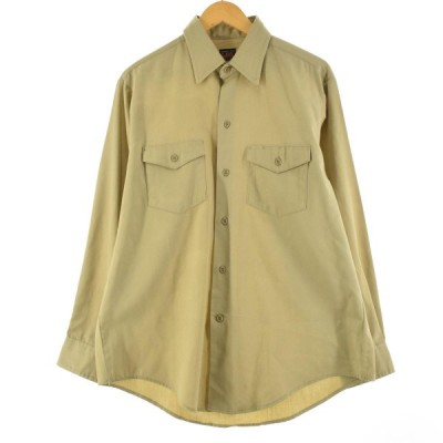 70年代 リー Lee 長袖 ワークシャツ USA製 メンズL ヴィンテージ /eaa145835
