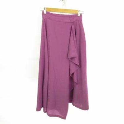 【中古】ビッキー VICKY ラップスカート ロング フレア 紫 0 *E4 レディース