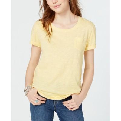 スタイル&コー Style & Co レディース Tシャツ トップス Cuffed-Sleeve Cotton T-Shirt Lime Shock