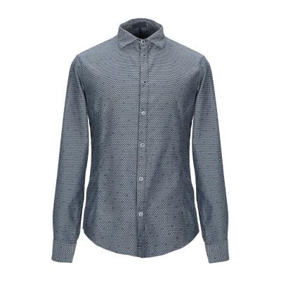 アルマーニ ジーンズ ARMANI JEANS シャツ ダークブルー XS コットン 100% シャツ