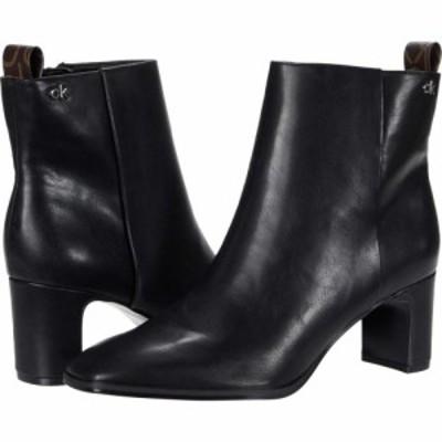 カルバンクライン Calvin Klein レディース ブーツ シューズ・靴 Deni Black Waxy Nappa