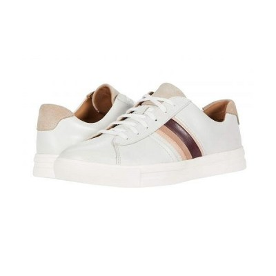 Clarks クラークス レディース 女性用 シューズ 靴 スニーカー 運動靴 Un Maui Band - White/Blush Leather/Suede Combi