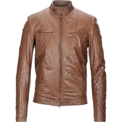 サルバトーレ サントロ SALVATORE SANTORO メンズ レザージャケット アウター Leather Jacket Tan