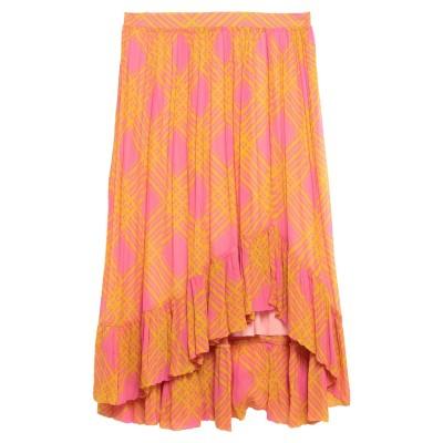 BAUM UND PFERDGARTEN ひざ丈スカート フューシャ 42 レーヨン 100% ひざ丈スカート