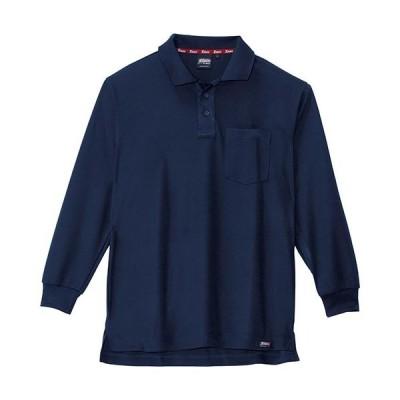 ジーベック(XEBEC) ハイブリッド長袖ポロシャツ 10/紺 6121 作業服 作業着 ワークウエア ワークウェア メンズ レディース