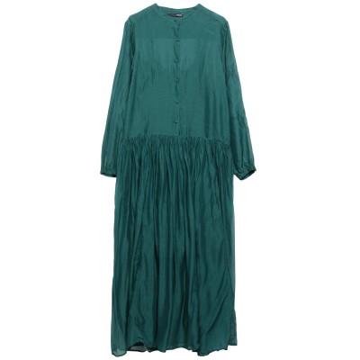 テッサ .TESSA 7分丈ワンピース・ドレス グリーン 42 コットン 70% / シルク 30% 7分丈ワンピース・ドレス