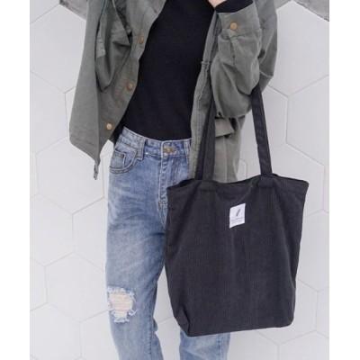 ARMARIA / ポケット付き!コーデュロイ生地のトートバッグ(5色) WOMEN バッグ > トートバッグ