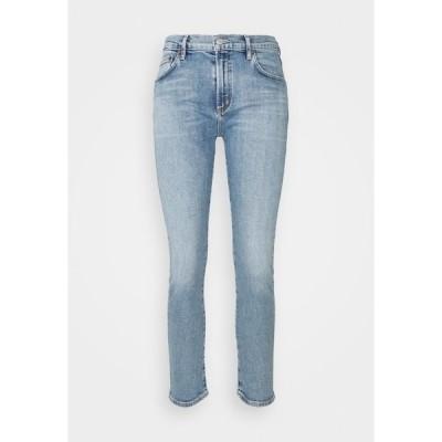 アゴルド カジュアルパンツ レディース ボトムス PRECIPICE TONI MID RISE - Slim fit jeans - precipice light indigo
