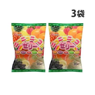 七尾製菓 ニコニコニッコリゼリー 16個入×3袋
