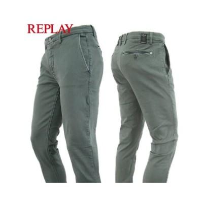 リプレイ/REPLAY メンズ チノパンツ M9627L 8166197/ウォッシュグリーン/030/セール/19AW
