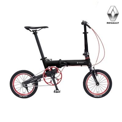 折り畳み自転車 RENAULT ULTRA LIGHT7 NEXT 14インチ AL折りたたみバイク ブラック ルノー(AL-FDB140 NEXT)