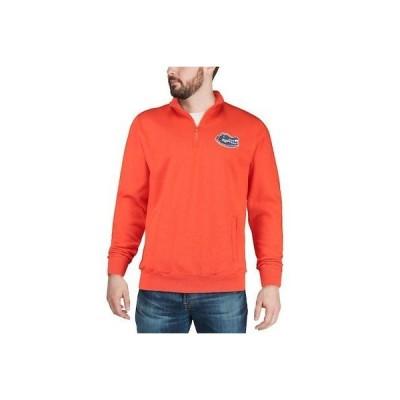 大学 NCAA コロッセオ Colosseum Florida Gators Orange Team Logo Quarter-Zip Pullover Jacket