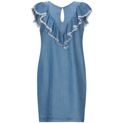 セミクチュール SEMICOUTURE ミニワンピース&ドレス ブルー 42 指定外繊維(テンセル)® 100% ミニワンピース&ドレス