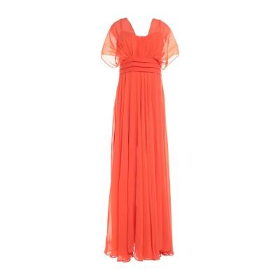 レリッシュ RELISH ロングワンピース&ドレス オレンジ XS ポリエステル 100% ロングワンピース&ドレス