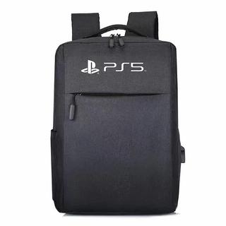 [哈GAME族]免運費 可刷卡 PS5專用 黑色主機配件收納包 雙肩外出後背包大容量雙肩手提包
