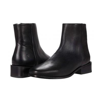 Frye フライ レディース 女性用 シューズ 靴 ブーツ アンクル ショートブーツ River Inside Zip Bootie - Black Soft Vintage Leather