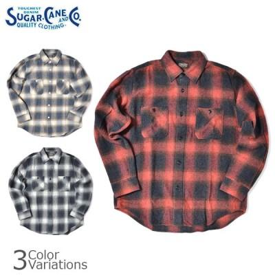 SUGAR CANE & Co.(シュガーケーン) COTTON TWEED CHECK LONG SLEEVE SHIRT SC28541